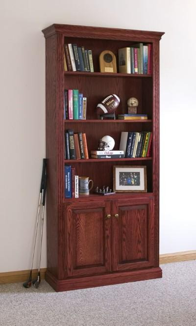Finished Fluted Bookcase
