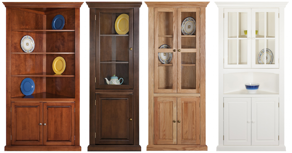 Arthur Brown 3-sided corner cupboards
