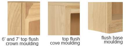 Flush Traditional Bookcase Details