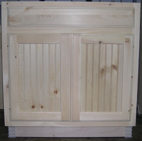 base cabinet with no center stile