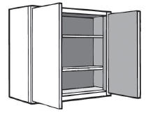 "W2436: Kitchen Wall Cabinet, 24""w x 36""h x 12""d"